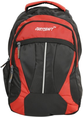 Justcraft Butterfly Black and Printed Red Collage 20 L Backpack(Red)