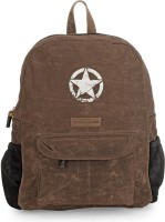 The House of Tara Rugged Distressed Canvas 18 L Laptop Backpack(Brown)