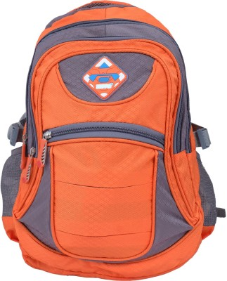 Super Drool Orange Mesh Trek and Travel Series 10 L Backpack