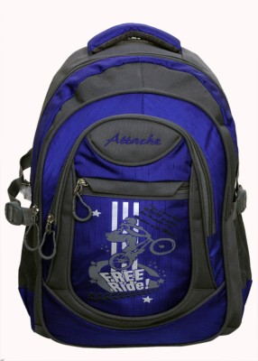 Attache Stylish School Bag (Royal Blue & Grey) 30 L Backpack