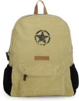 The House of Tara Rugged Distressed Canvas 18 L Laptop Backpack(Beige)