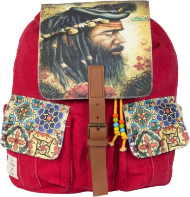 The House of Tara Printed Canvas 040 20 L Medium Backpack
