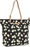 United Colors of Benetton Canvas bag with floral print Backpack