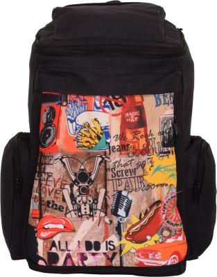 Kanvas Katha Knapsack Canvas Digitally printed 20 L Backpack
