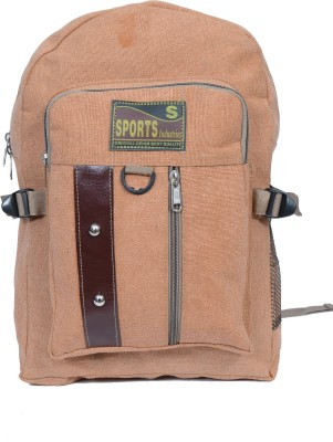 Sk Bags TWO BUTTON REXIN PATTI (BR) 27 L Backpack