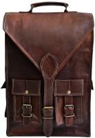 Pranjals House real leather messenger shoulder bag c 15 L Laptop Backpack(brown)