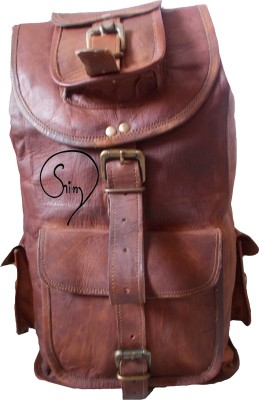 Shiny Collection 100% Genuine Leather Bag 5 L Backpack