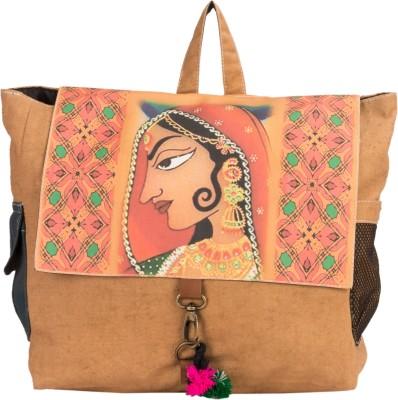 The House of Tara Canvas Bani Thani Bag 10 L Medium Backpack