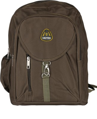United Bags Buckle Front All Brwn 35 L Medium Backpack