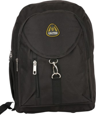 United Bags Buckle Front All Blck 35 L Medium Backpack