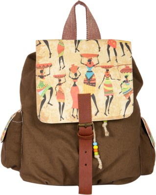 The House of Tara Printed Canvas 033 20 L Medium Backpack