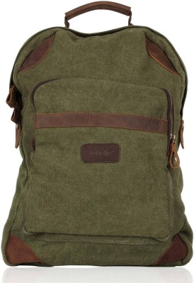 Zobello Canvas/Genuine Leather 18 L Medium Backpack