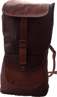 Shiny Collection 100% Goat Leather 20.5 L Backpack