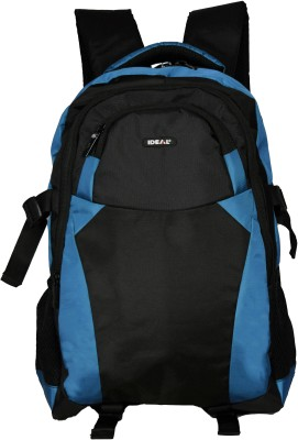 Ideal Litres Cyan and Black 25 L Laptop Backpack