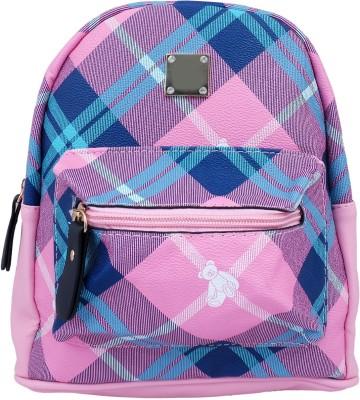 Super Drool Pink Mesh Stylish 2 L Backpack