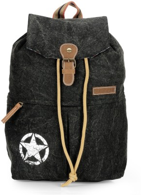 The House of Tara Canvas 23 L Backpack(Charcoal Black)