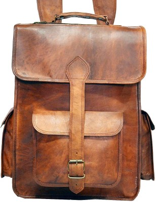 Hide 1858 Genuine Leather Dark Tan 2.5 L Backpack