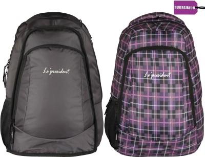 President Reversible Black Multi 30 L Backpack