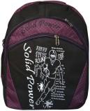 Bueva SLDP 25 L Backpack (Black, Purple)