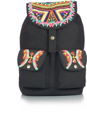 Shaun Design Canvas Embroidered 8 L Medium Backpack