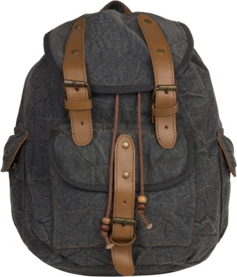 The House of Tara Leather Accented Canvas 16 L Medium Backpack
