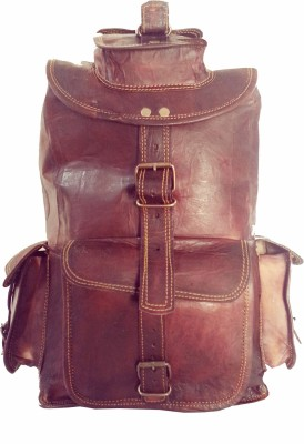 Hide 1858 Genuine Leather Dark Tan 3.5 L Backpack