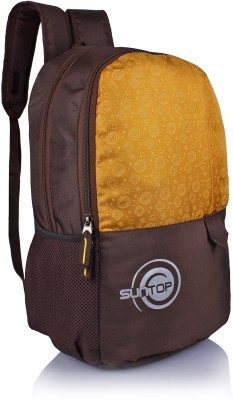 Suntop Pixel Daypack Bag(Waterproof Fabric) 24 L Backpack(Brown, Yellow)