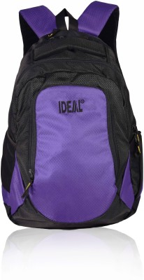 Ideal Ideal Aarcher Purple and Black Laptop 20 L Backpack
