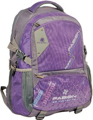 Fabion Grey n Purple 36 L Large Backpack