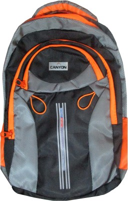 canyon black and Orange 5 L Laptop Backpack