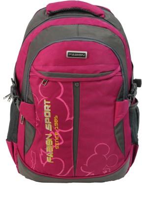 Fabion 1349 Pink N Grey 36 L Large Backpack