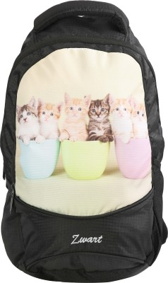 Zwart FOR KIDS - CATS PRINT 10 L Backpack