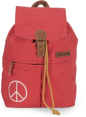 The House of Tara Canvas 23 L Backpack(Coral Red)