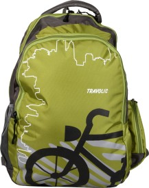 TRAVOLIC Bike Green 30 L Laptop Backpack