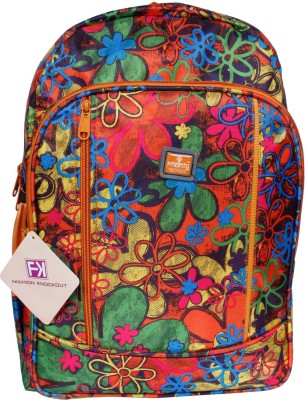 Fashion Knockout Digital Flowery print 5 L Laptop Backpack