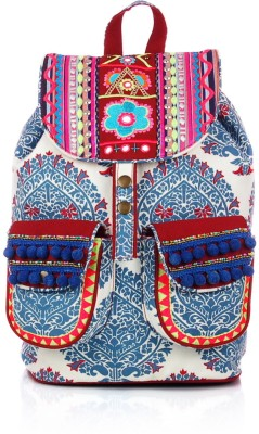 Shaun Design Motifs Embellished 8 L Medium Backpack