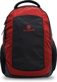 De' Bags FABER 25 L Laptop Backpack(Red)