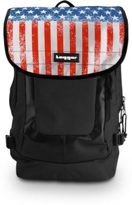 Tagger Urban Electro Stars & Stripes Bsly_olbk (Black) Top Loaded Ultimate 21 L Laptop Backpack