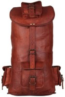 Crafat 16″ Ladies Travel Leather 15 L Backpack(BROWN)