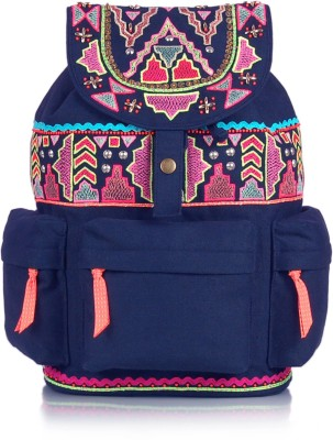 Shaun Design Canvas Neon Embroidered 8 L Medium Backpack