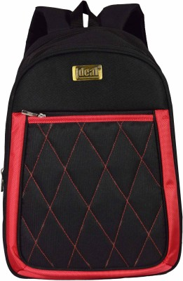 Ideal Quilt Red and Black Casual 25 L Backpack