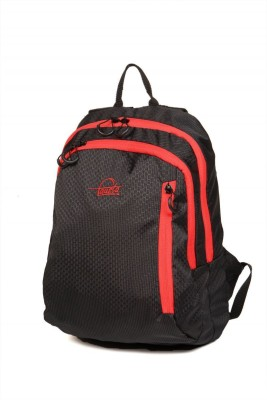 Fausta Black with Red Hexagon 15 L Backpack