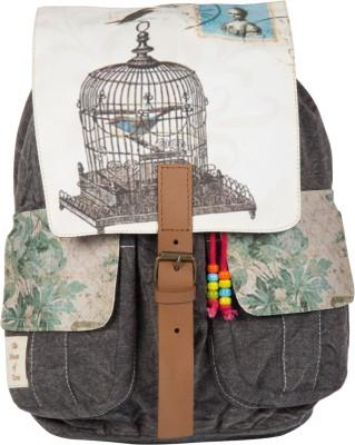 The House of Tara Printed Canvas 046 20 L Medium Backpack