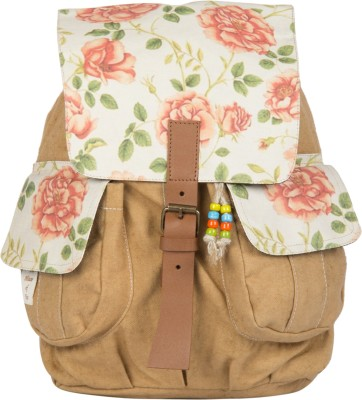 The House of Tara Printed Canvas 048 20 L Medium Backpack