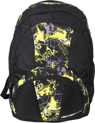 Justcraft Trendy Black and Printed Yellow 30 L Backpack