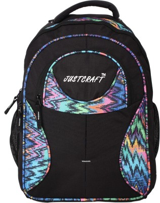 Justcraft Five Star Black and Printed Multi 30 L Backpack
