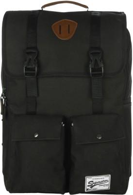 Impulse Double Pocket Black 20 L Laptop Backpack
