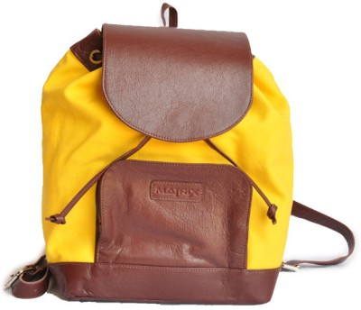 Matrix Leather Canvas Backpack