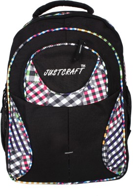 Justcraft Five Star Black and Printed White 30 L Backpack