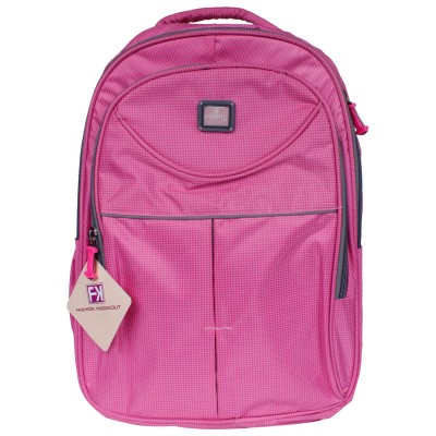 Fashion Knockout Cheakered Pink Candy 5 L Laptop Backpack